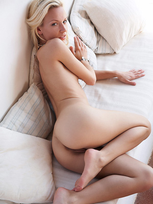 Naked blondie
